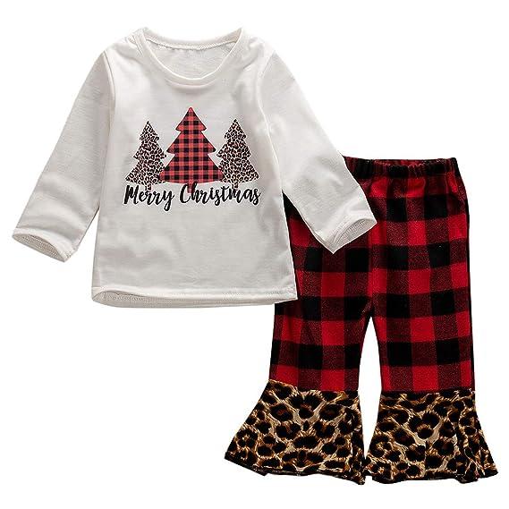 USA Kids Baby Girls Christmas Unicorn Tops Dress Pants Leggings Outfits Clothes