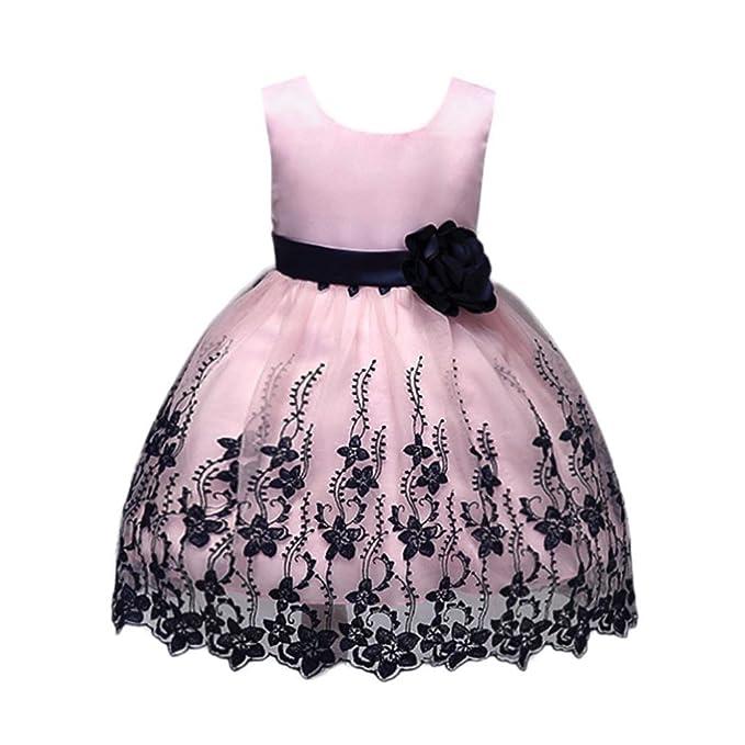 UOMOGO® Vestito Ragazze Bambina Farfalla Cerimonia Elegante Smanicato  Principessa Abiti 1-7 Anni  Amazon.it  Abbigliamento b683744d0f0