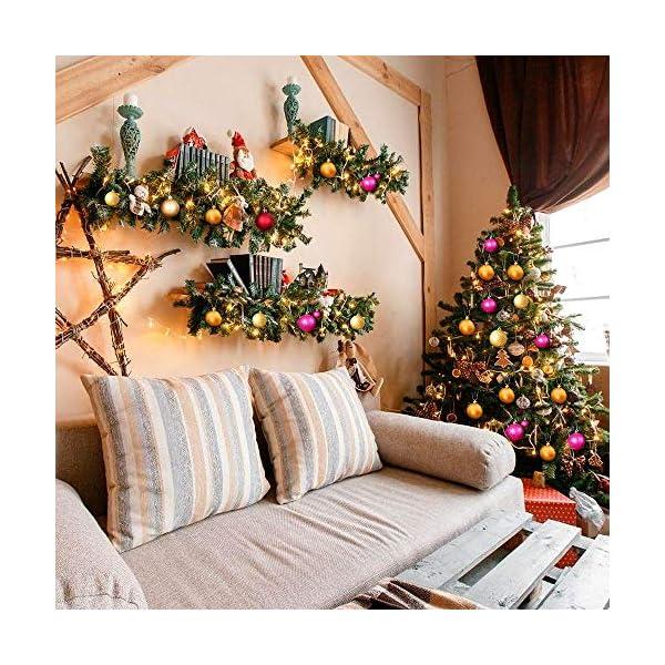 WELLXUNK Palline di Natale, 24pcs Albero di Natale Palla Decorazioni, Palline di Natale Opache, Palline di Natale Infrangibili, Palle infrangibili per Decorazioni Natalizie da Appendere (Verde) 5 spesavip