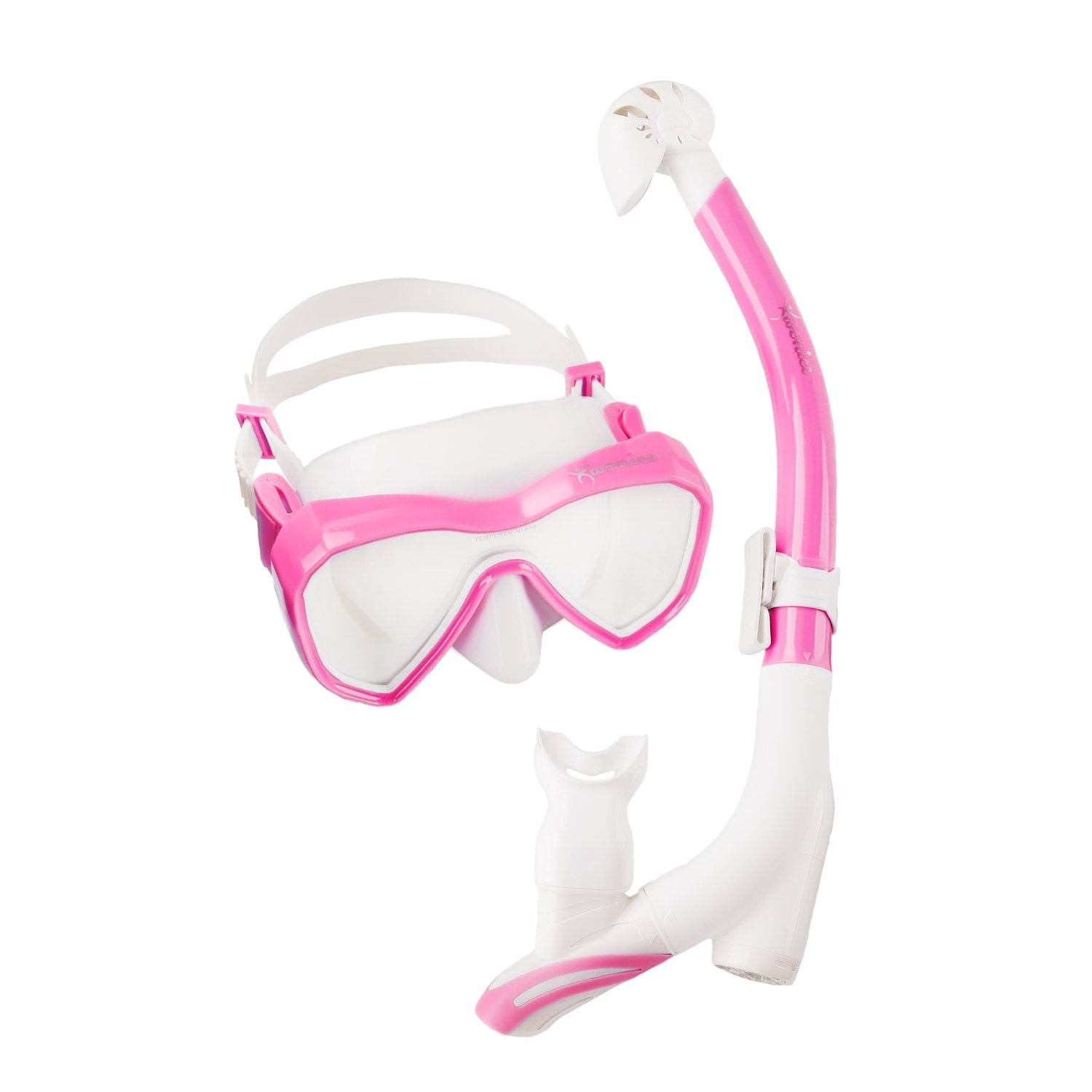 2b16239f0 WONICE Innovative Water-Air Separated Channel Dry Top Snorkel Set.Get Rid  of Sucking