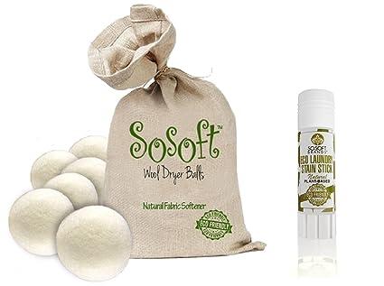 Sosoft lavandería Combo Paquete 100% orgánico Sosoft secador ...
