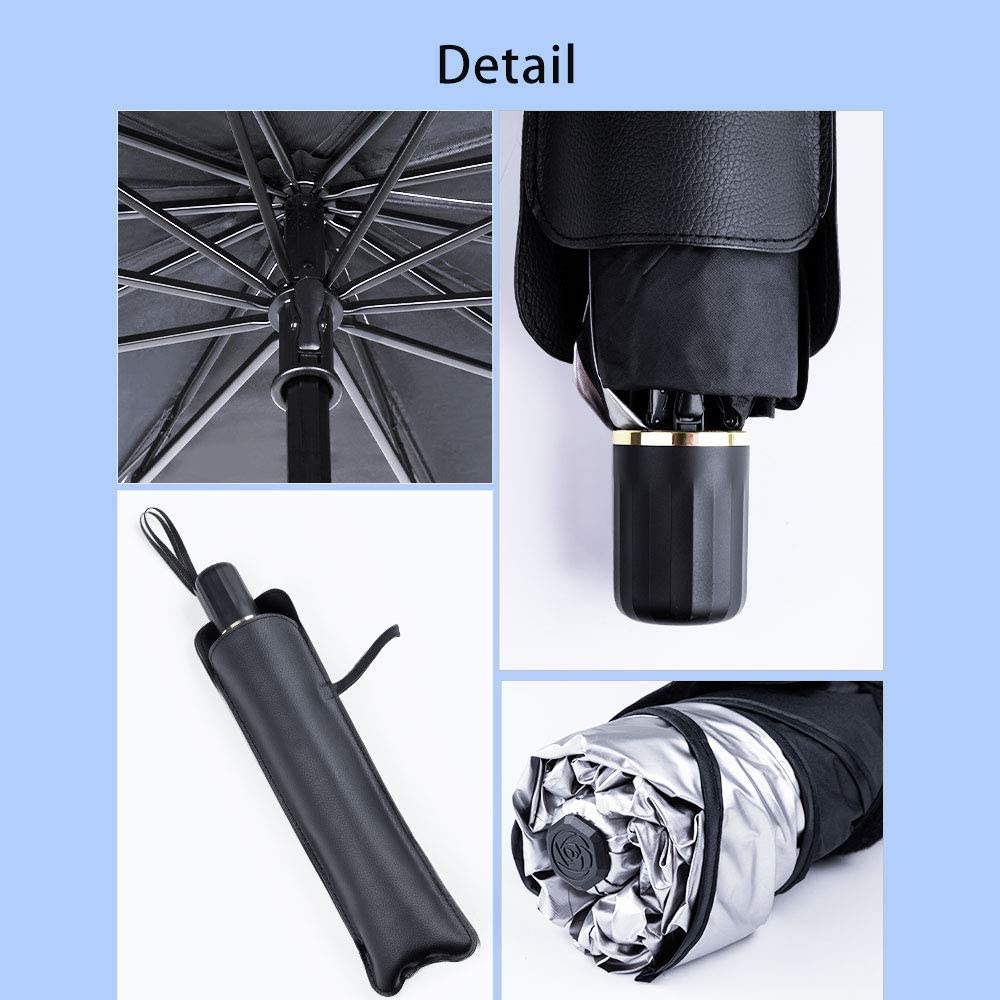 Shaped Umbrella-Blocks UV Rays-Easy to Use and Store aokway Sun Shade for Car Window Front Windshield 2020 Newest Model Small-49x25.6 inches