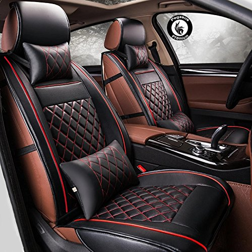 Super Pegasus Pu Leather Car Seat Cover Black Silver For Gamerscity Chair Design For Home Gamerscityorg