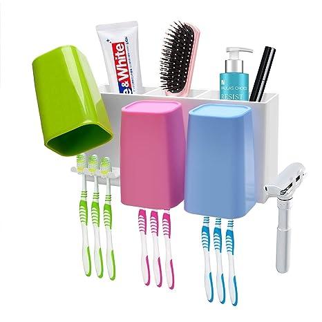 MEIDI Home Soporte para Cepillo de Dientes Baño montado en la Pared Conjunto de Soporte para