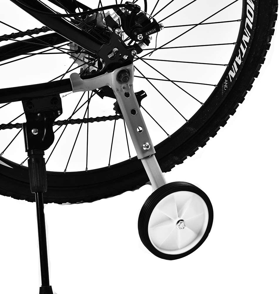 GOTOTOP 2Pcs Childrens Bike//Bicycle Stabilisers Adjustable Training Aid Variable Speed Bicycle Training Wheels Adjustable for Kids Bikes 16 Inch to 22 Inch