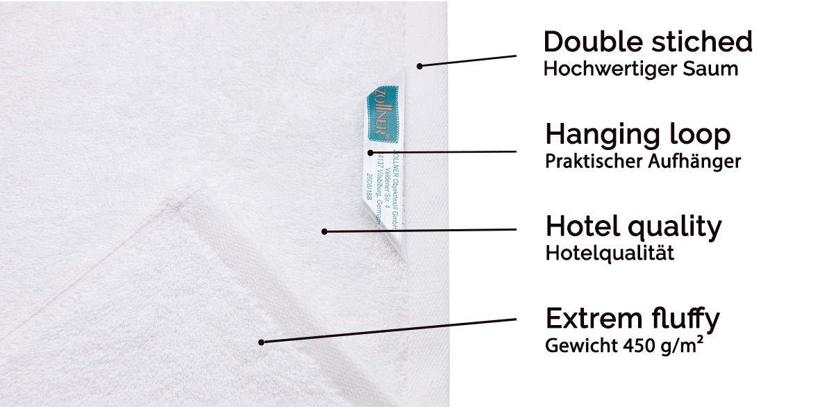 ZOLLNER 10 Toallas de tocador Blancas, 30x50 cm, algodón 100%, en Otra Medida: Amazon.es: Hogar