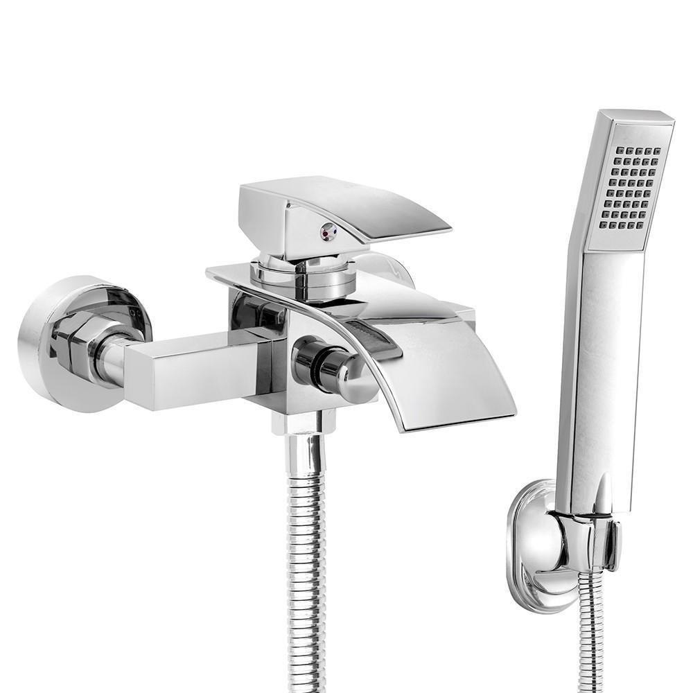 Yaheetech Duschsysteme Regendusche Set Duschset Duscharmatur mit Handbrause Thermostatset