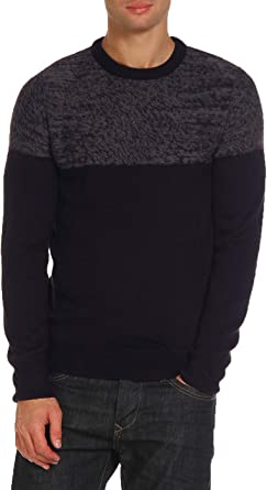 NEW Next Mens Textured Knit Crew Neck Cotton Jumper Sweater Pullover Top NAVY M