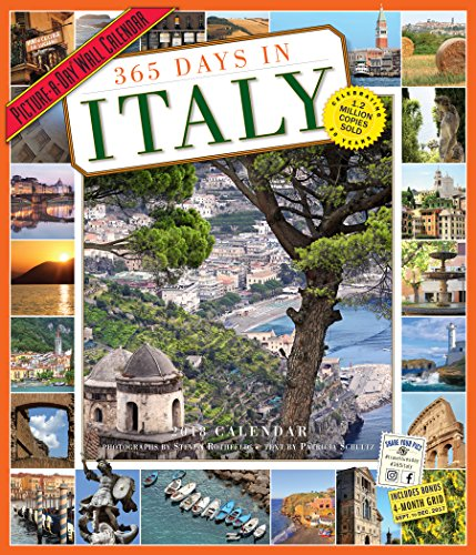 365 Days in Italy Picture-A-Day Wall Calendar 2018 cover