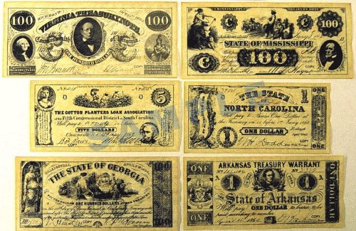 Confederate Currency Set A