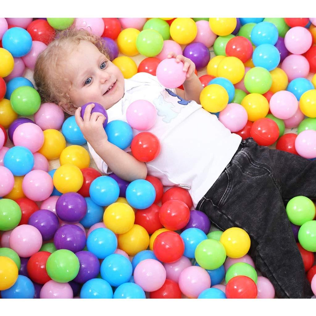 LIUFS-オーシャンボール 子供用マリーンボール プールカラーボール プラスチックボール ウェーブボール トイボール バブルボール LIUFS-009  マルチカラー B07QMPL29F