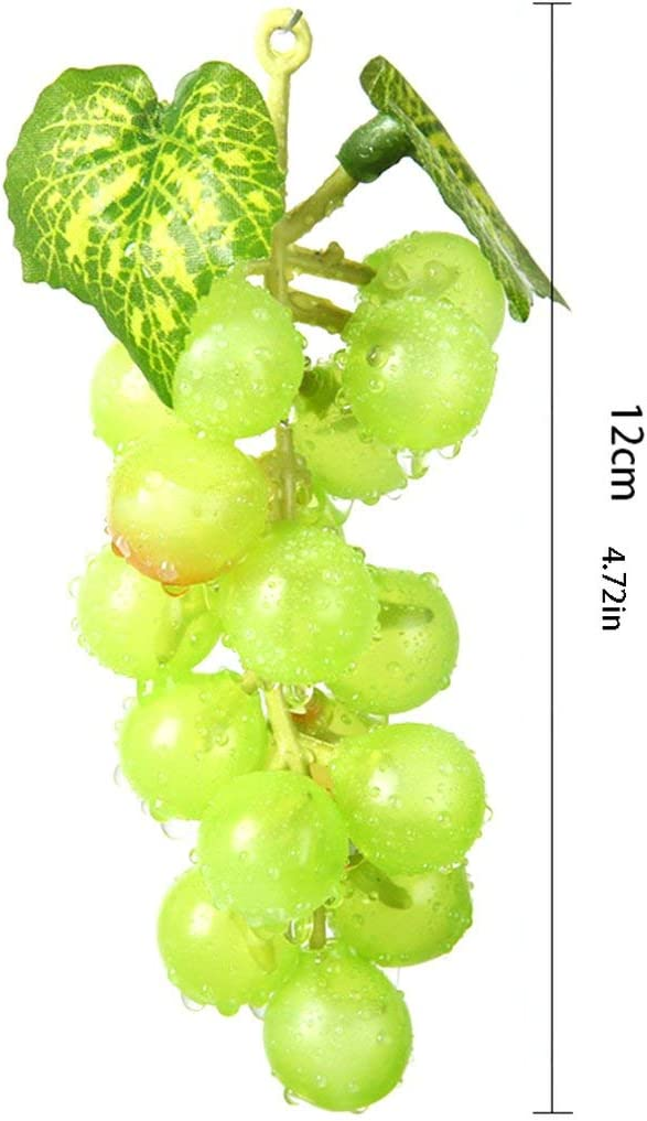 Jessicadaphne 1 pcs Artificielle Fruits Raisins en Plastique Faux D/écoratif Fruits R/éaliste Maison De Mariage Partie Jardin D/écor Mini Simulation Fruits