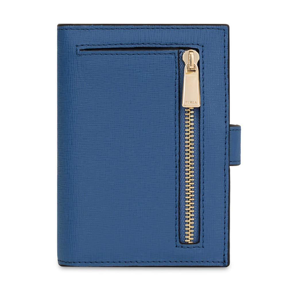 FURLA - Cartera para Mujer Azul Genziana 9x12 cm: Amazon.es ...