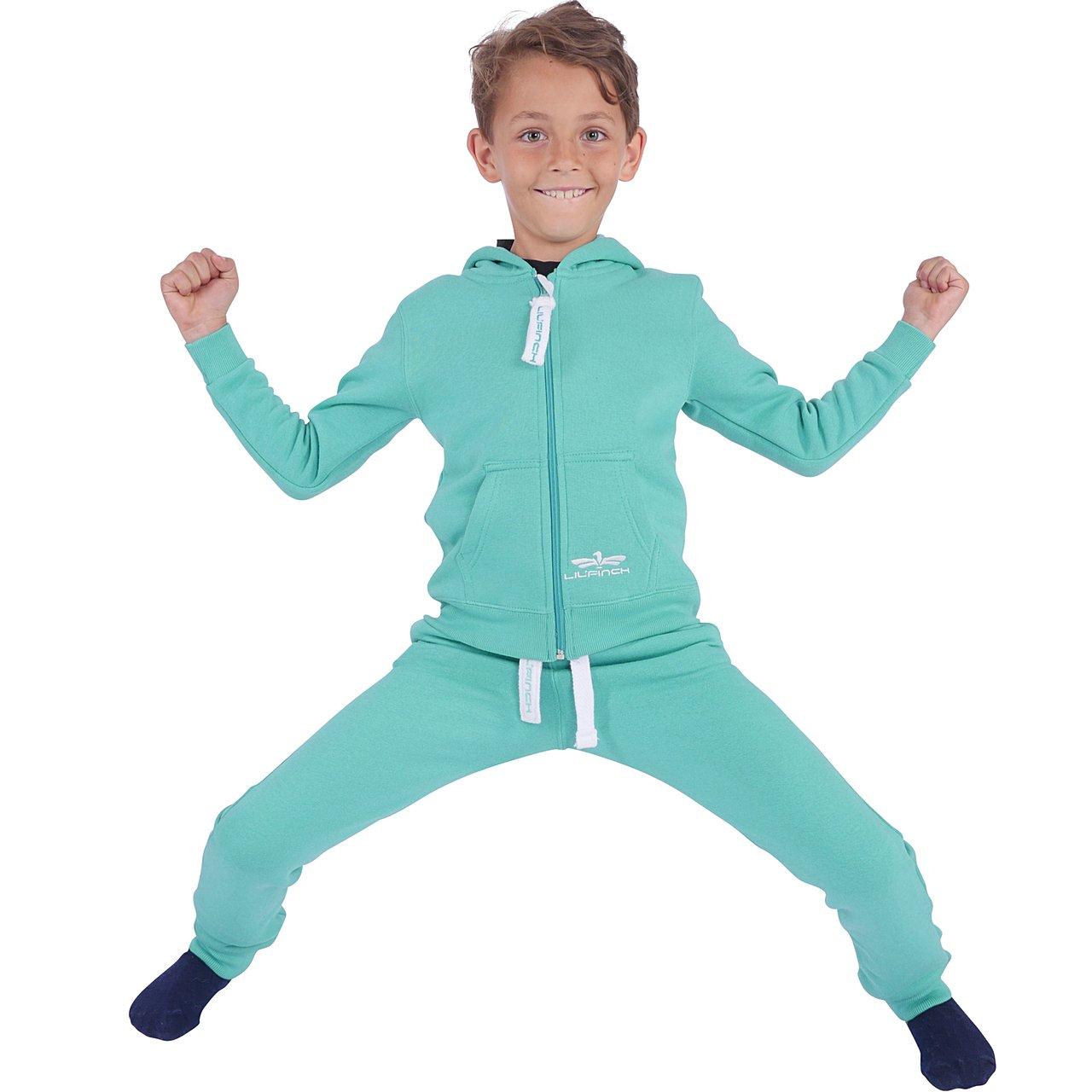 LIL'Finch Kinder Trainingsanzug Jungen Mädchen Kids Schlafanzug Jogger Anzug