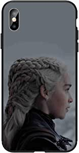 Okteq Case for iphone XS Max Shock Absorbing PC TPU Full Body Drop Protection Cover matte printed - Arya stark 6 By Okteq