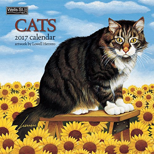 Wells Street by Lang 2017 Cats Wall Calendar, 12 x 12 inches, January to December 2017 (17997001718)