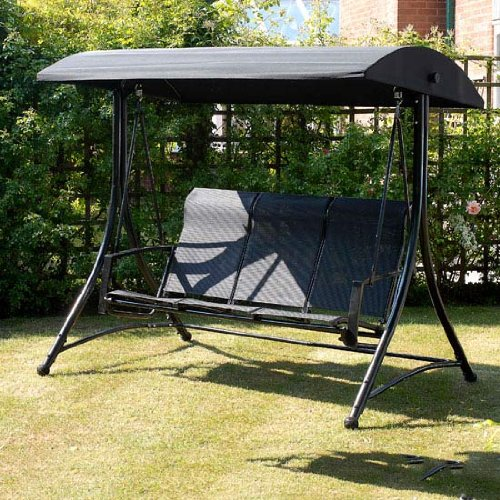 Havana Replacement Canopy 3 Seater Black Swing Garden Outdoors Hammocks Swing Chairs Accessories
