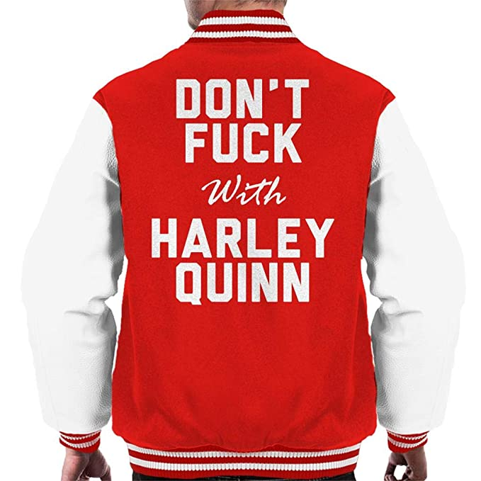 Coto7 Dont Fuck with Harley Quinn Mens Varsity Jacket ...