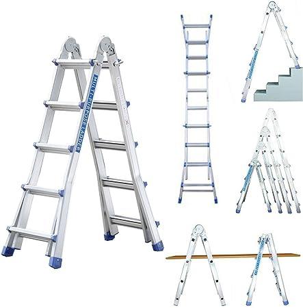 Profesional 5/8/16 – Escalera telescópica (16 peldaños Escalera multiusos de aluminio – Escalera caballete Escalera aluminio pintor Escalera escalera multifunción: Amazon.es: Bricolaje y herramientas