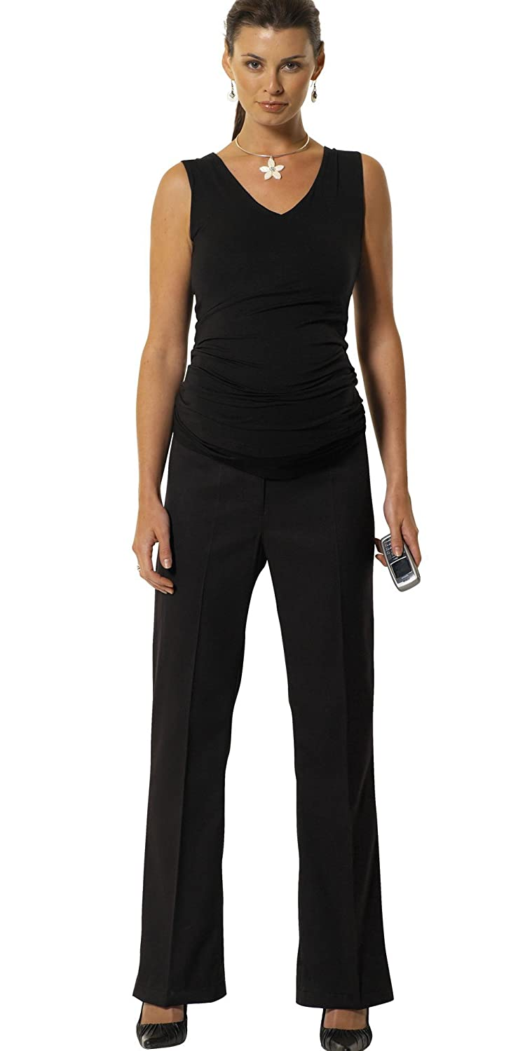 Bootcut Maternity Pregnancy Trousers, Over the Bump, Sizes 8 - 22, (Available in 3 leg lengths), Smart Office Work Pants