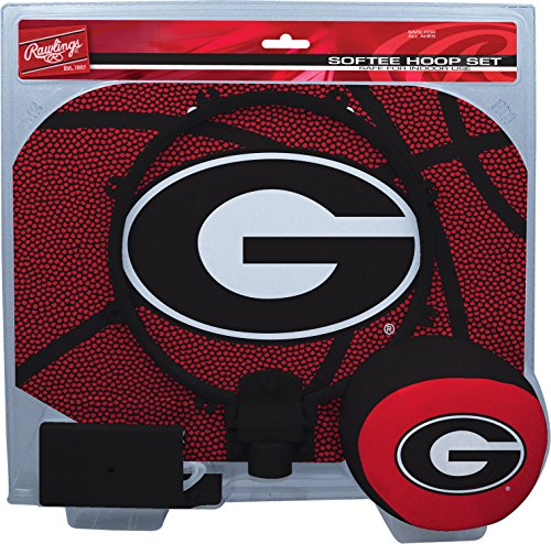 NCAA Georgia Bulldogs Kids Slam Dunk Hoop Set, Red, Small