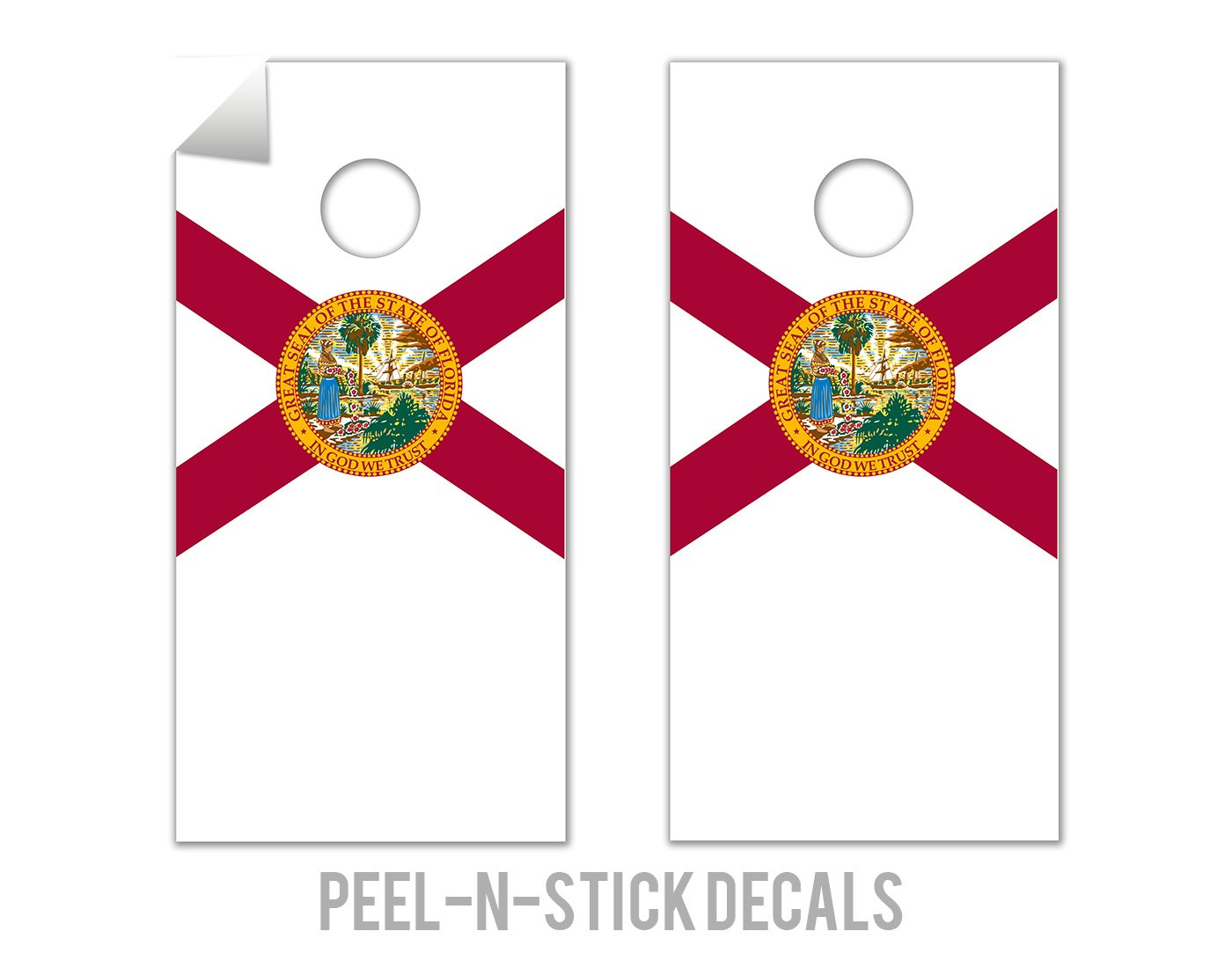 Florida State Flag - Cornhole Crew - ACA Regulation Size Cornhole Board Decals