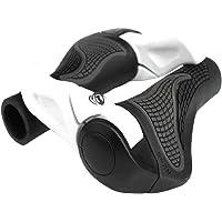 Outgeek Bike Handle Grip Bike Grip Ergonomic Horn Lock On Handlebar Grip Rubber End Grip for Bicycle