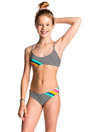 85751ce6bddb Rip Curl Bikini Kids Surf Candy Combine Bra Set Bikini Girls: Amazon ...