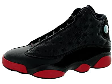 fefc0f23ba8 Jordan Mens 13 Retro Black/black/gym Red 414571-003 (7.5,
