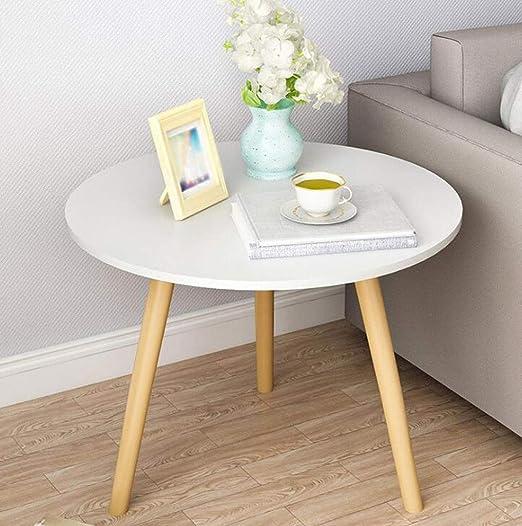 QKDSA Mesa Redonda pequeña Mesa de café anidada decoración de ...
