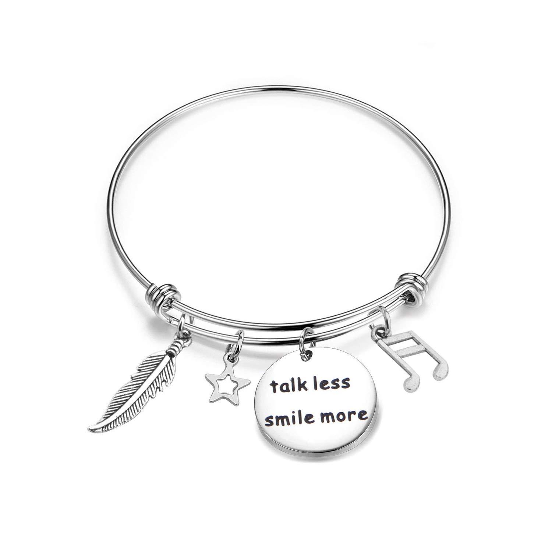 KUIYAI Talk Less Smile More Bracelet Hamilton Broadway Gifts