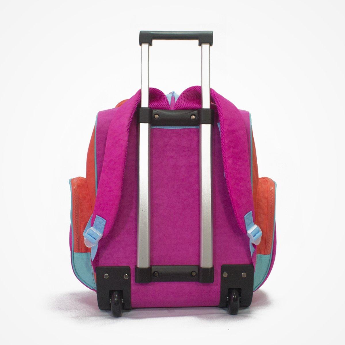 Biglove Rolling Kids Backpack Multi-Colored Big Love BPTR-PE-001 Peace