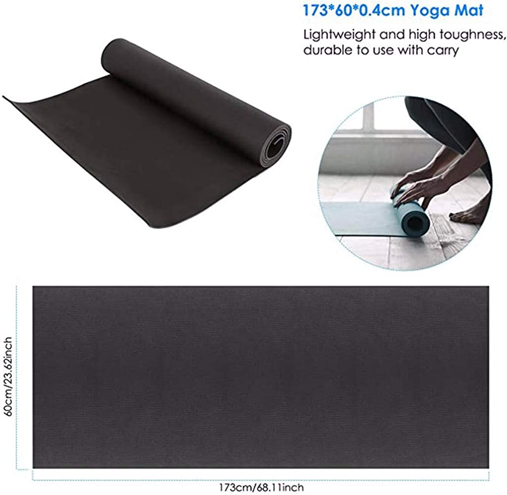 4mm Thick Durable Yoga Mat Non-slip Exercise Fitness Pad Mat Lose Weight New