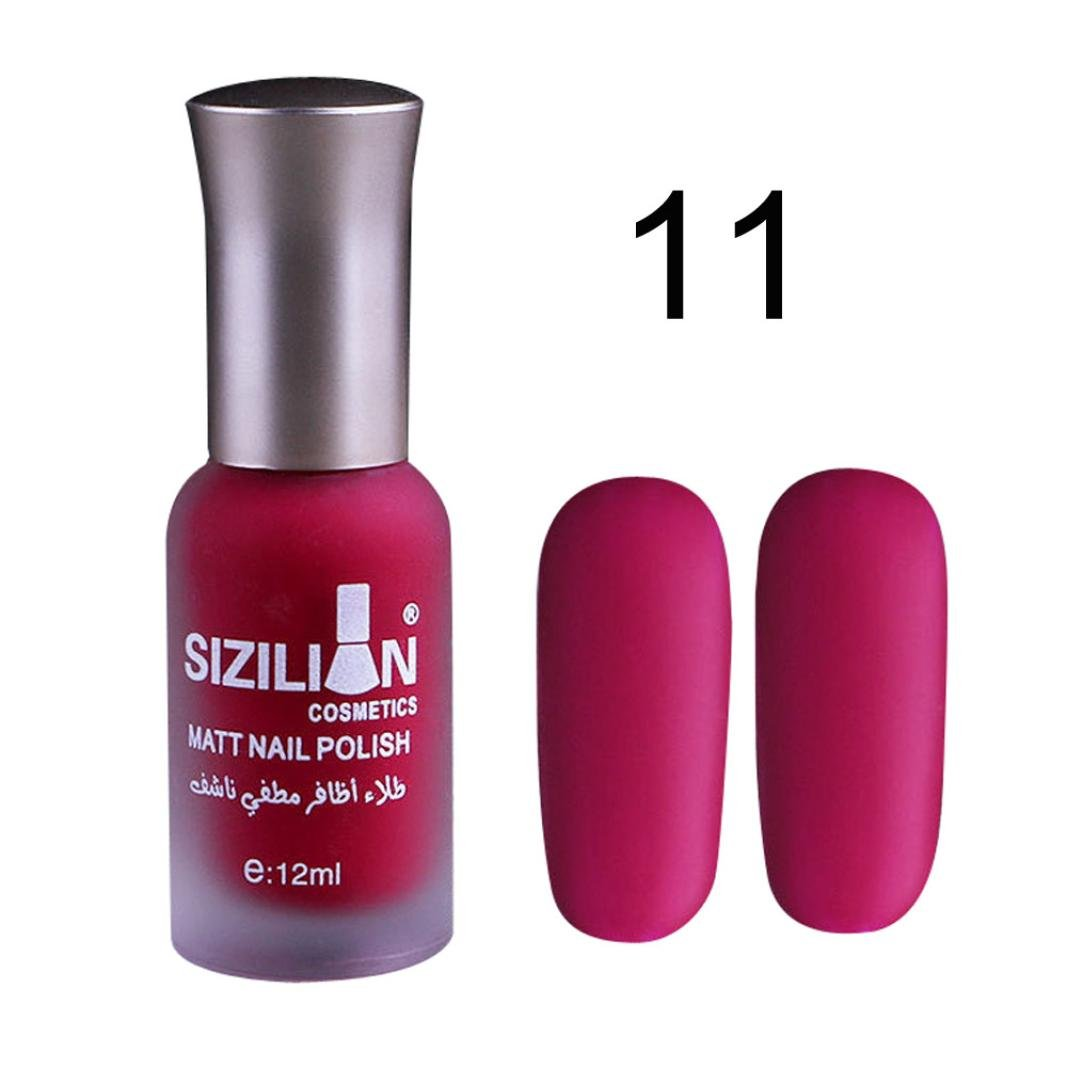 Amazon.com: 12ml Matte Dull Nail Polish Fast Dry Long Lasting Nail ...