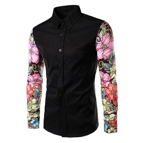 Vin beauty wlgreatsp De Las Mujeres Cuff Print Camisa de Costura