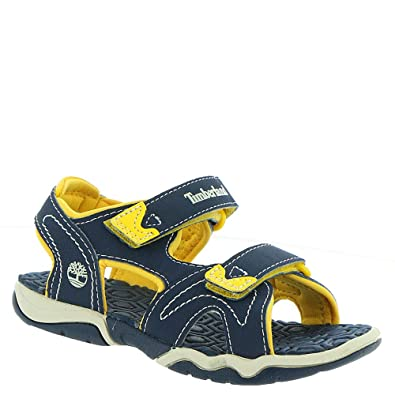 dc21c63a0 Timberland Boy's Adventure Seeker 2-Strap Sandal Infant/Toddler Navy/Yellow  ...