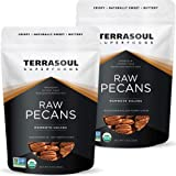 Terrasoul Superfoods Organic Pecans, 22 Oz - Mammoth Halves   Fresh   Raw