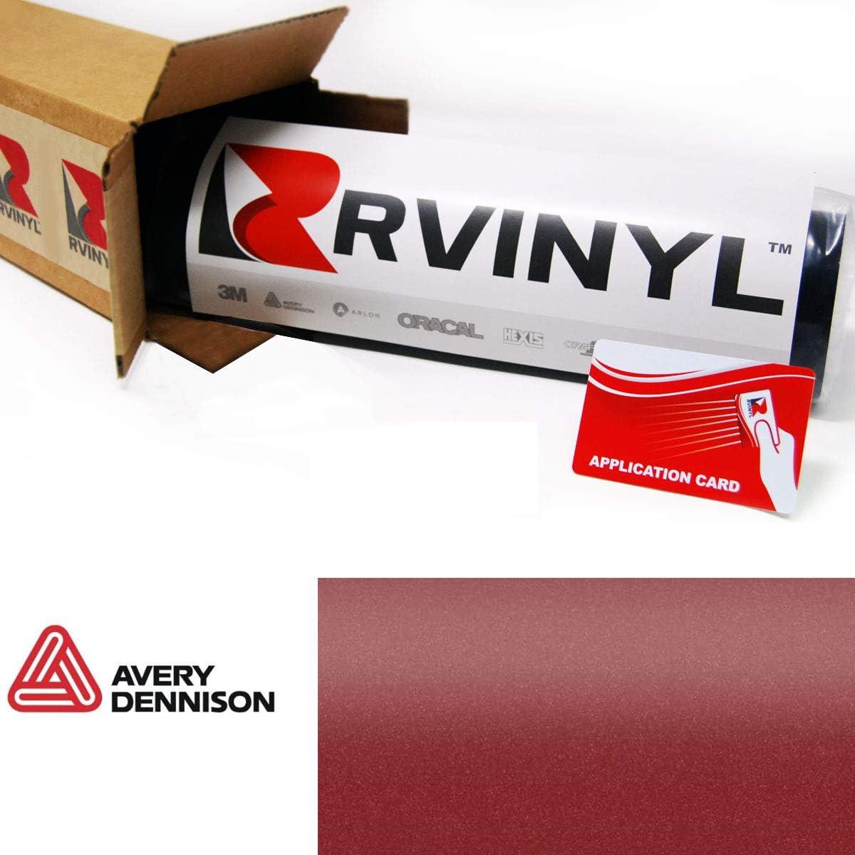 12 x 60 w//Application Card Avery SW900 444-M Matte Metallic Cherry Supreme Wrapping Film Vinyl Vehicle Car Wrap Sheet Roll