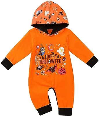 de una sola pieza Disfraz de calabaza para Halloween con capucha para beb/é y ni/ña
