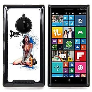 Devil Cry Sexy Girl Caja protectora de pl??stico duro Dise?¡Àado King Case For Nokia Lumia 830