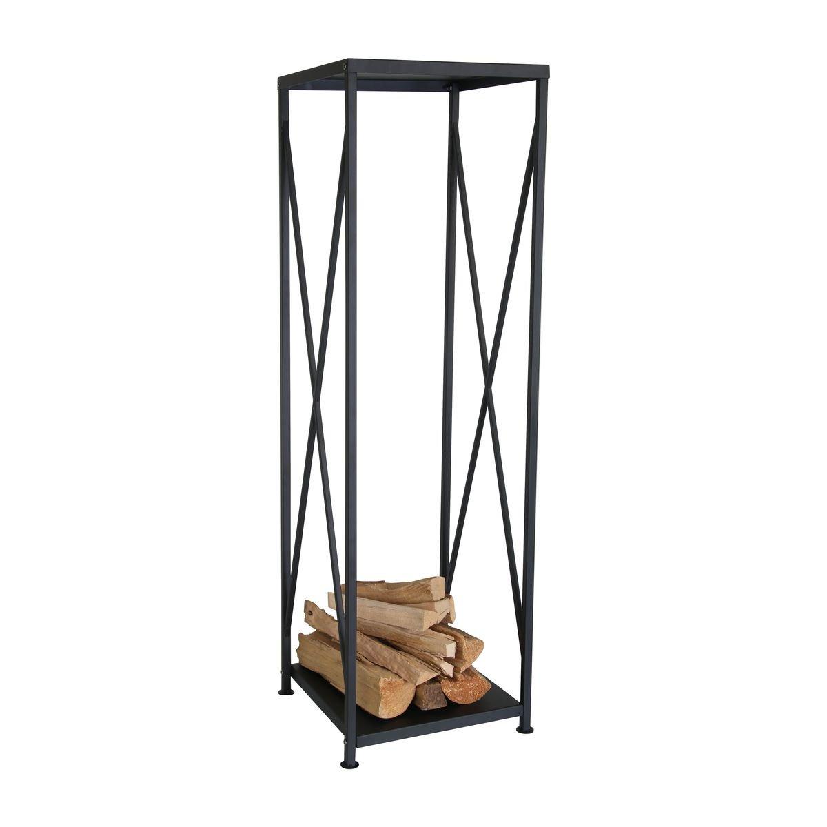 Kaminoflam Étagère en métal pour Bois de cheminée Moderne pour intérieur Noir Kamino-Flam 122312