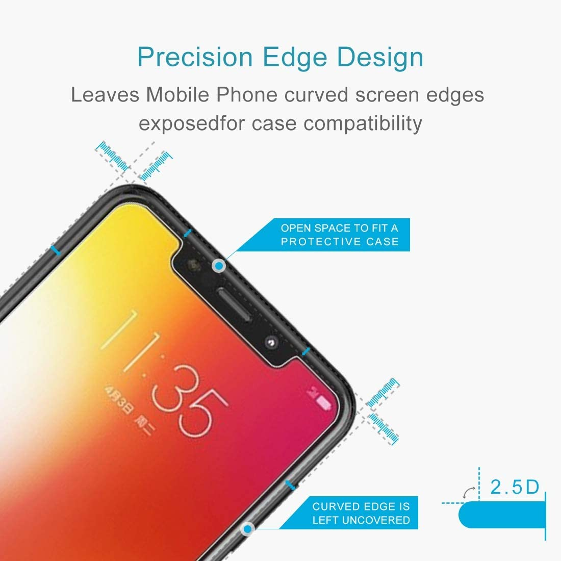 GUOSHU Premium Tempered Glass Screen Film 100 PCS 0.26mm 9H 2.5D Explosion-Proof Tempered Glass Film for Motorola Moto One Anti-Scratch Screen Protector P30 Play