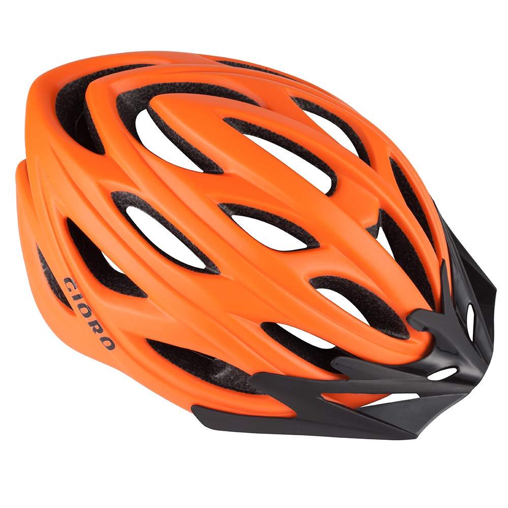 GIOROバイキングヘルメット男性用女性&十代の若者たち安全保護サイクリングヘルメット調節可能な軽量CPSC公認自転車用ヘルメット(オレンジ、ラージ(大人))   B07KYC33ND
