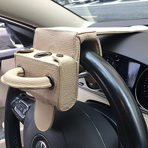 Universal Heavy Duty Car Van Steering Wheel Lock Anti Theft Security Device (Genuine Leather protection) by Keeping (Image #3)