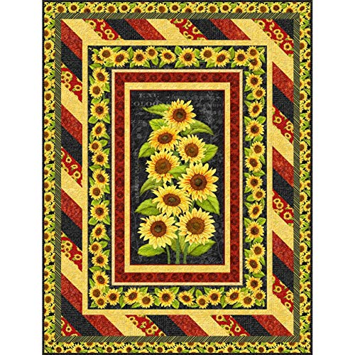 (Wilmington Prints Jardin Du Soleil Lola Molina Sunflower Morning Awakening Quilt Kit)