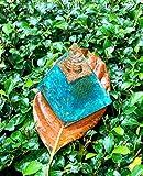 AQUAMARINE ORGONE PYRAMID Protection- Copper COIL