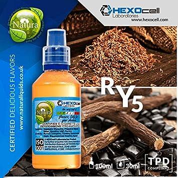 E LIQUID PARA VAPEAR - 30ml RY5 (Tabaco de fuerza media y regaliz ...
