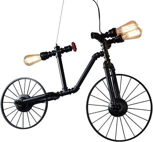 XAJGW Moderno Bicicleta Metal Hierro Luces colgantes Sombra E27 ...