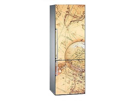 Vinilo Frigorífico Mapamundi Antiguo 185x60cm | Varias Medidas ...