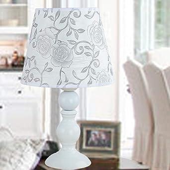 Incroyable SBB Moderne Lampe De Table Pour Chambre à Coucher Métal 220 240V Blanc/ Orange
